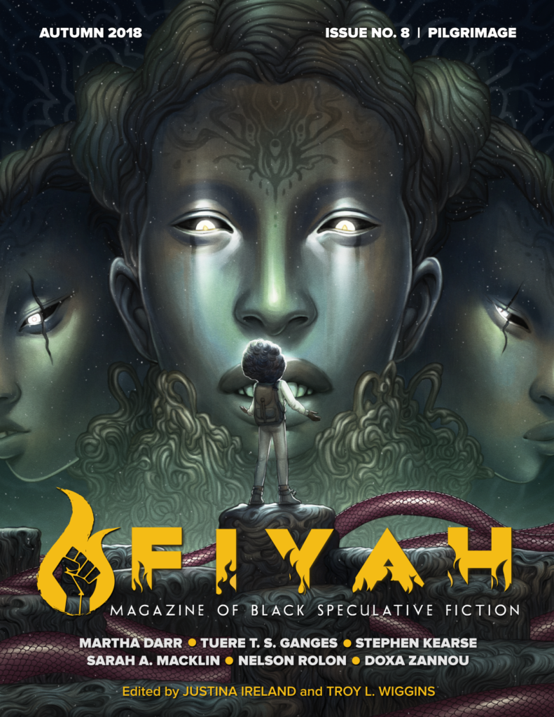 Cover of FIYAH #8: Pilgrimage. Artwork by Edge